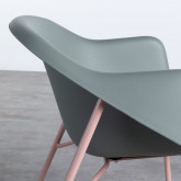 Esszimmerstuhl aus Polypropylen und Metall Ovo, Miniaturansicht 5