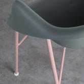 Esszimmerstuhl aus Polypropylen und Metall Ovo, Miniaturansicht 7