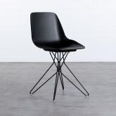 Esszimmerstuhl aus Polypropylen und Stahl Buk, Miniaturansicht 1
