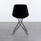 Esszimmerstuhl aus Polypropylen und Stahl Buk, Miniaturansicht 4