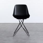 Esszimmerstuhl aus Polypropylen und Stahl Buk, Miniaturansicht 5