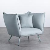 Sessel mit Armlehnen aus Stoff Fika, Miniaturansicht 1