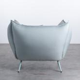Sessel mit Armlehnen aus Stoff Fika, Miniaturansicht 4