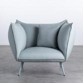 Sessel mit Armlehnen aus Stoff Fika, Miniaturansicht 5