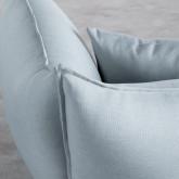 Sessel mit Armlehnen aus Stoff Fika, Miniaturansicht 6
