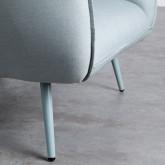 Sessel mit Armlehnen aus Stoff Fika, Miniaturansicht 8