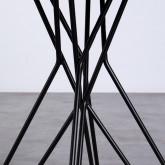 Esszimmertisch Rund aus MDF und Metall (Ø80 cm) Buk, Miniaturansicht 4