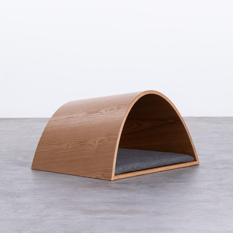 Nest Bett aus Holz und Stoff für Hunde und Katzen Prico , Galeriebild 1