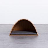 Nest Bett aus Holz und Stoff für Hunde und Katzen Prico , Miniaturansicht 5