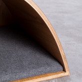 Nest Bett aus Holz und Stoff für Hunde und Katzen Prico , Miniaturansicht 9