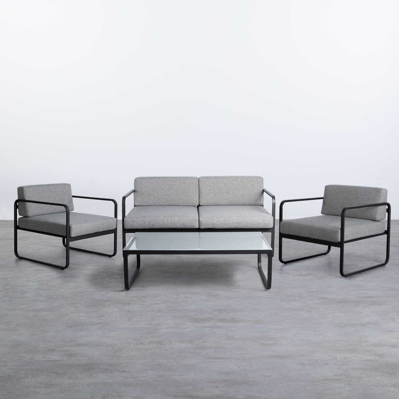 Garten Set aus Stahl und Stoff Borneo , Galeriebild 1