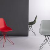 Esszimmerstuhl aus Polypropylen und Stahl Buk, Miniaturansicht 2