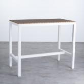 Hoher Outdoor Tisch Korce aus Holz und Stahl (120x70 cm), Miniaturansicht 1