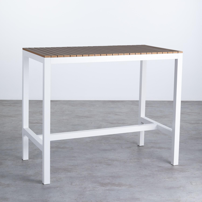Hoher Outdoor Tisch Korce aus Holz und Stahl (120x70 cm), Galeriebild 1