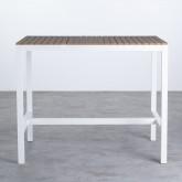 Hoher Outdoor Tisch Korce aus Holz und Stahl (120x70 cm), Miniaturansicht 3