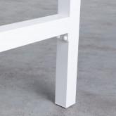Hoher Outdoor Tisch Korce aus Holz und Stahl (120x70 cm), Miniaturansicht 5