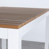 Hoher Outdoor Tisch Korce aus Holz und Stahl (120x70 cm), Miniaturansicht 7