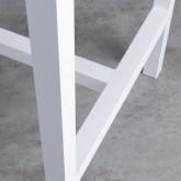 Hoher Outdoor Tisch Korce aus Holz und Stahl (120x70 cm), Miniaturansicht 8