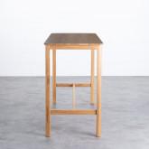 Hoher Tisch aus Holz  (140x65,5 cm) Roxet, Miniaturansicht 2