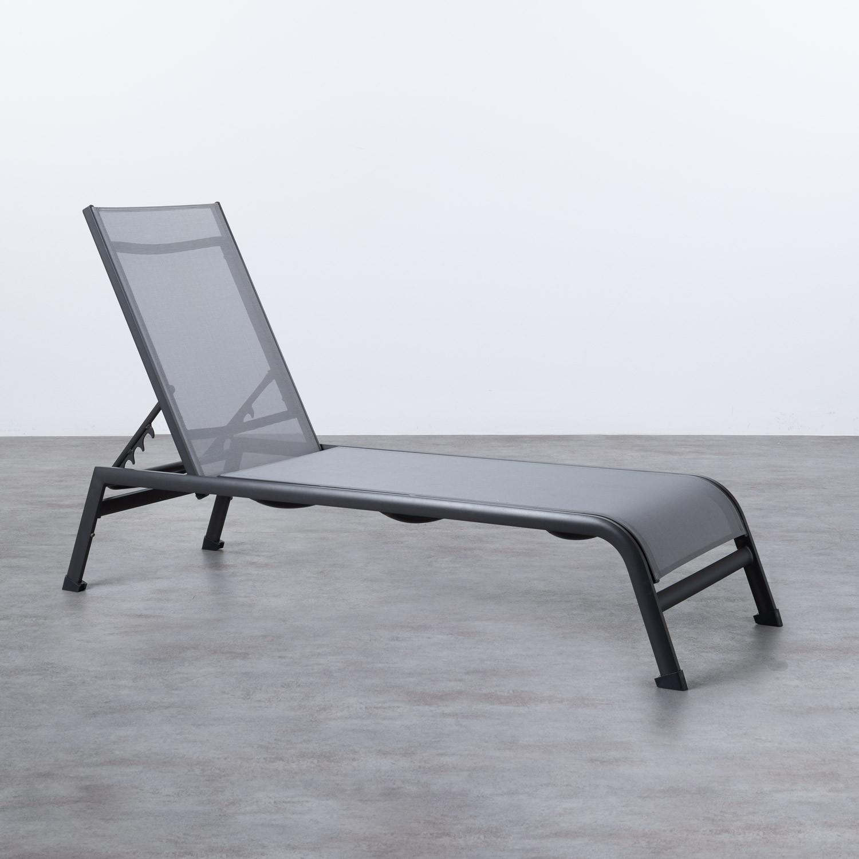 Verstellbare Liege aus Aluminium und Stoff Miko, Galeriebild 1