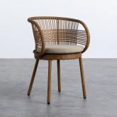 Outdoor Stuhl aus Rattan Auxis, Miniaturansicht 1