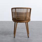 Outdoor Stuhl aus Rattan Auxis, Miniaturansicht 3
