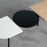 Couchtisch 3 Tischplatten aus Holz und Stahl (105x35 cm) Tri, Miniaturansicht 6