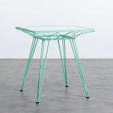 Quadratischer Outdoor-Tisch aus Stahl und Glas (67,5x67,5 cm) Sagax, Miniaturansicht 1