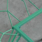Quadratischer Outdoor-Tisch aus Stahl und Glas (67,5x67,5 cm) Sagax, Miniaturansicht 5