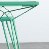 Quadratischer Outdoor-Tisch aus Stahl und Glas (67,5x67,5 cm) Sagax, Miniaturansicht 6