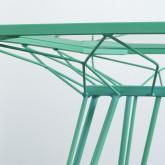 Quadratischer Outdoor-Tisch aus Stahl und Glas (67,5x67,5 cm) Sagax, Miniaturansicht 7