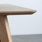 Rechteckiger Esstisch in Eiche MDF (120x80 cm) Berg, Miniaturansicht 4