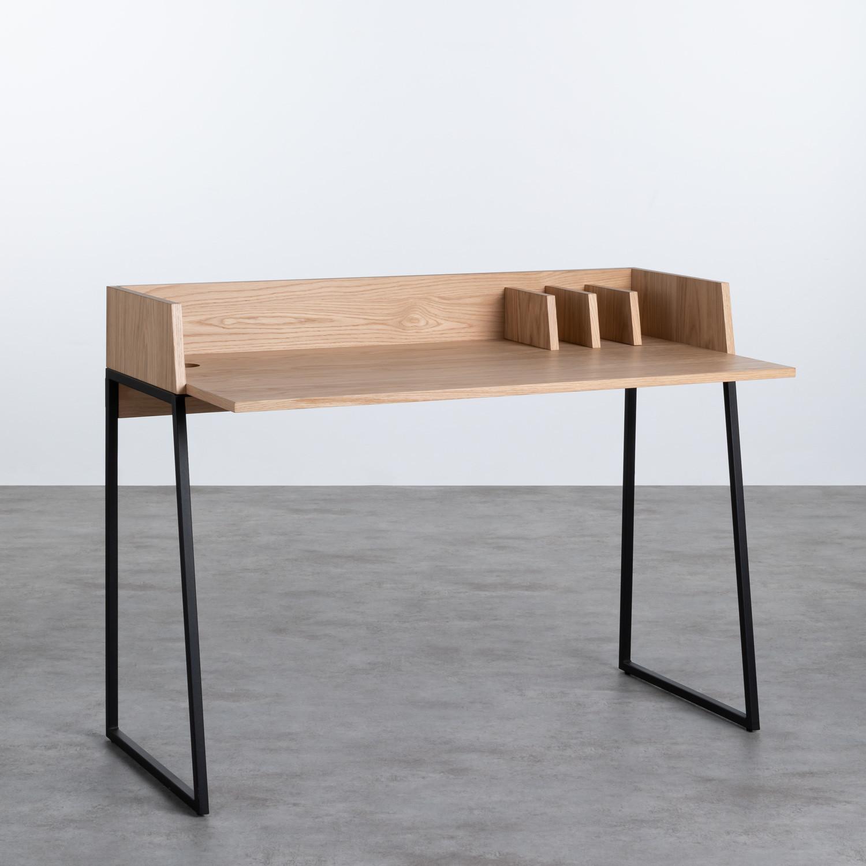 Schreibtisch aus MDF und Metall Esli, Galeriebild 1