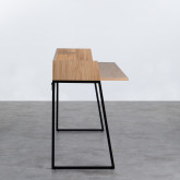 Schreibtisch aus MDF und Metall Esli, Miniaturansicht 2