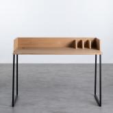 Schreibtisch aus MDF und Metall Esli, Miniaturansicht 4