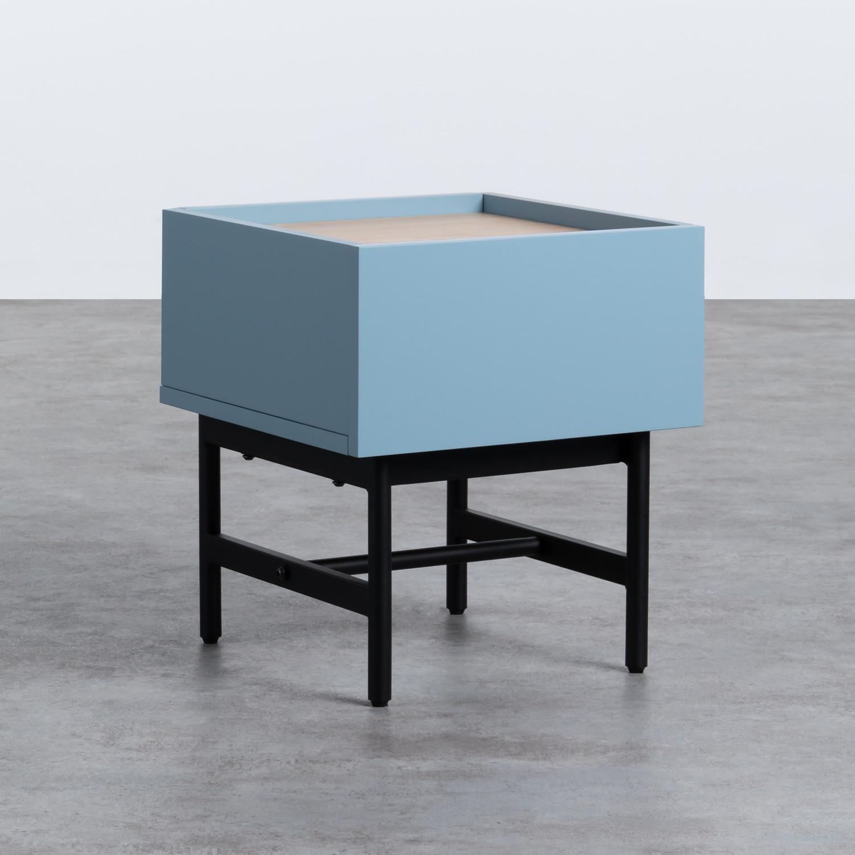 Nachttisch aus MDF und Metall Tuika, Galeriebild 1
