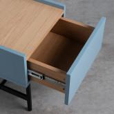 Nachttisch aus MDF und Metall Tuika, Miniaturansicht 7