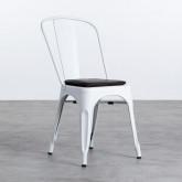 Quadratischer Kissen aus Kunstleder für Stuhl Industrial, Miniaturansicht 1
