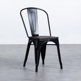 Stuhl Industrial - Powdercoating Black -, Miniaturansicht 1