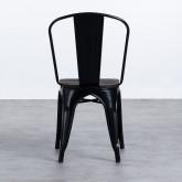 Stuhl Industrial - Powdercoating Black -, Miniaturansicht 3