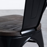 Stuhl Industrial - Powdercoating Black -, Miniaturansicht 7