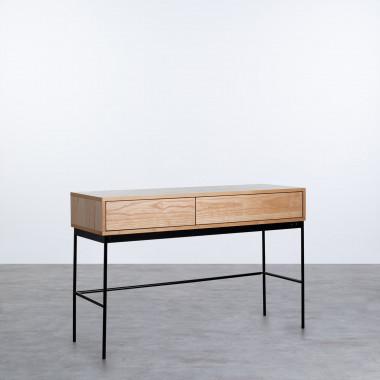 Schreibtisch aus MDF und Stahl Herber