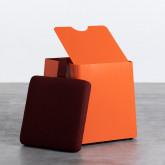 Quadratischer Pouff  mit Stauraum und Rädern aus Metall und Stoff Graos, Miniaturansicht 3