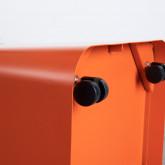 Quadratischer Pouff  mit Stauraum und Rädern aus Metall und Stoff Graos, Miniaturansicht 6