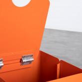 Quadratischer Pouff  mit Stauraum und Rädern aus Metall und Stoff Graos, Miniaturansicht 7