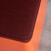 Quadratischer Pouff  mit Stauraum und Rädern aus Metall und Stoff Graos, Miniaturansicht 8