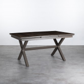 Ausziehbarer Esstisch aus Aluminium und Glas (160-210x100 cm) Orson, Miniaturansicht 1