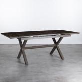 Ausziehbarer Esstisch aus Aluminium und Glas (160-210x100 cm) Orson, Miniaturansicht 4