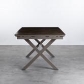 Ausziehbarer Esstisch aus Aluminium und Glas (160-210x100 cm) Orson, Miniaturansicht 5
