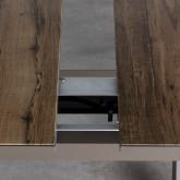 Ausziehbarer Esstisch aus Aluminium und Glas (160-210x100 cm) Orson, Miniaturansicht 7